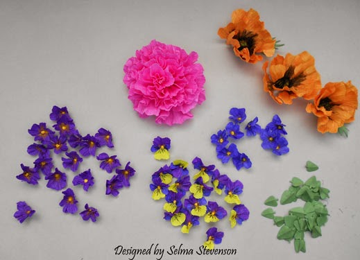 Selmas stamping corner and floral designs crepe paper flowers today i have created flowers using crepe paper and have explained each flower below i love creating different types of flowers using susans garden flower mightylinksfo