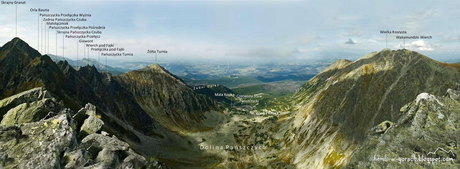 Panorama z Wielkiej Buczynowej Turni