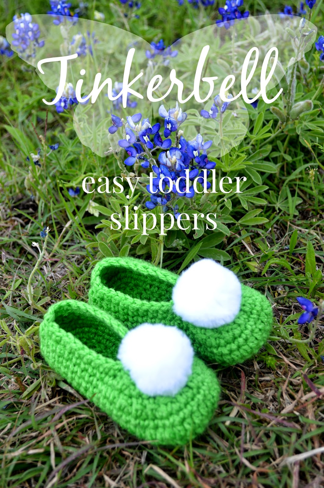 Free Crochet Pattern For Tinkerbell Hat : Tinkerbell slippers free pattern