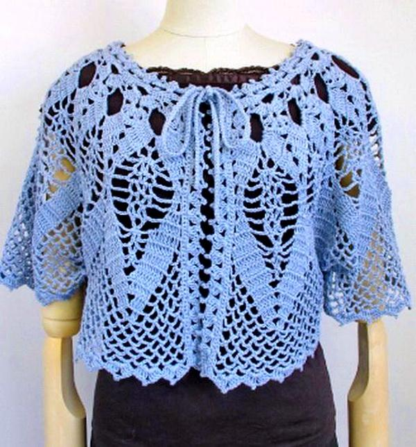 Free Patterns Crochet Cape : Crochet Shawls: Crochet Cape Sweater For Women - Lace Cape