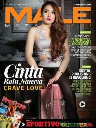 Majalah MALE Mata Lelaki Edisi 88 Cover Model Cinta Ratu Nansya