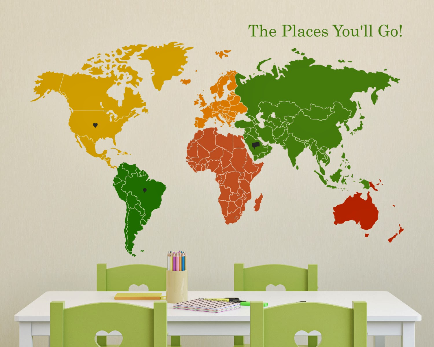 World Map on a Nursery School by maxginez3