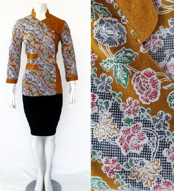 Model Blouse Batik Embos DBT 4191