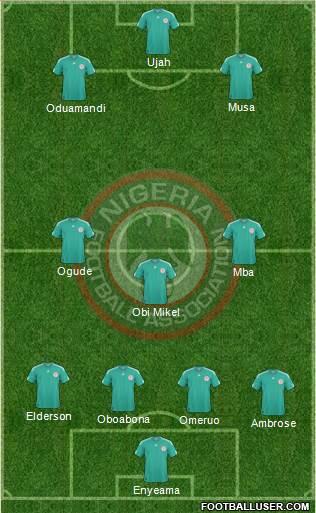 nigéria sistema tático tático 4-3-3