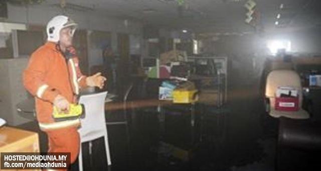 Bilik Server Radio Televisyen Malaysia (RTM) Terbakar Awal Pagi Ini