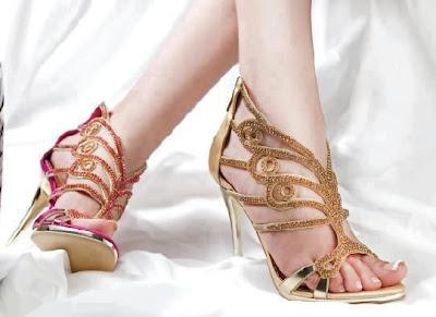 Beautiful Metro Shoes Bridal Golden High-heel Shoes 2013-14