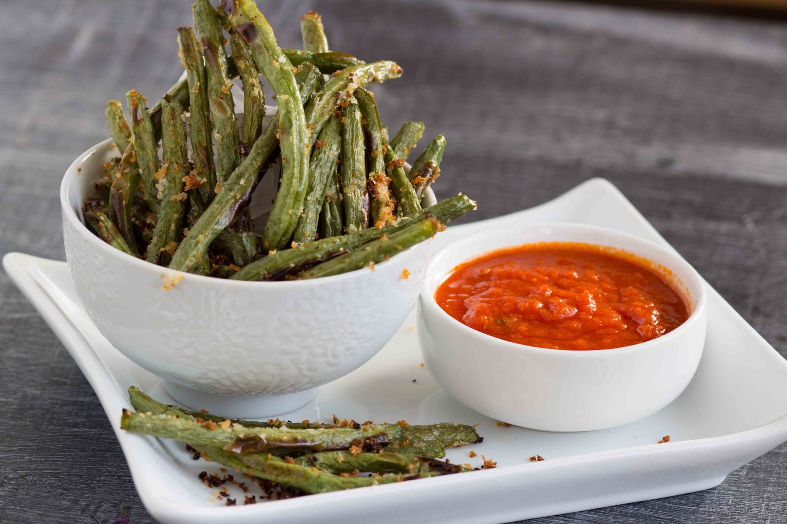 Kid Cultivation: Baked Parmesan Green Bean Fries