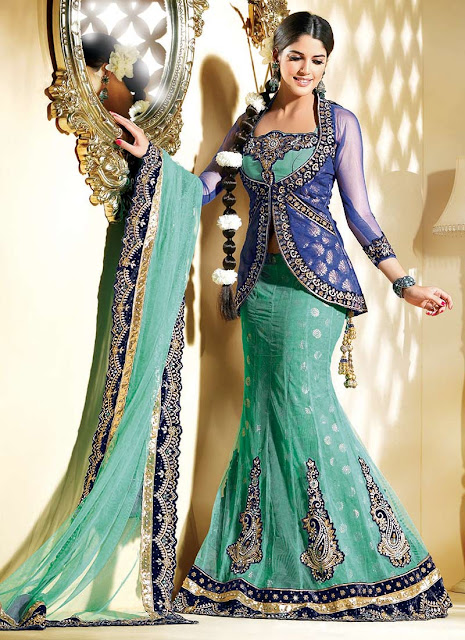 Fish Cut Lehenga Choli Latest 2013-2014