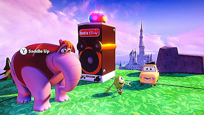 Disney Infinity Boombox Mike Abu Elephant Luigi Castle game