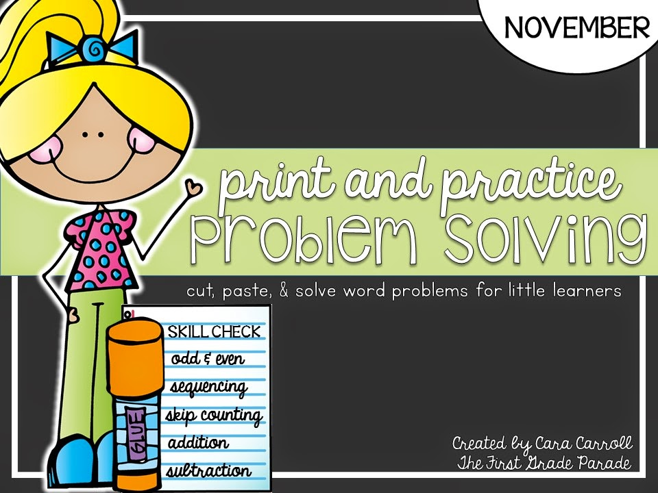 November Print & Practice Problem Solving - Word Problems