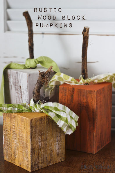 Wood Block Craft Ideas ~ Fall diy projects to try little house of four