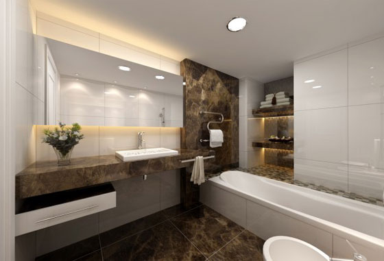 kamar mandi minimalis sederhana modern desain kamar mandi minimalis