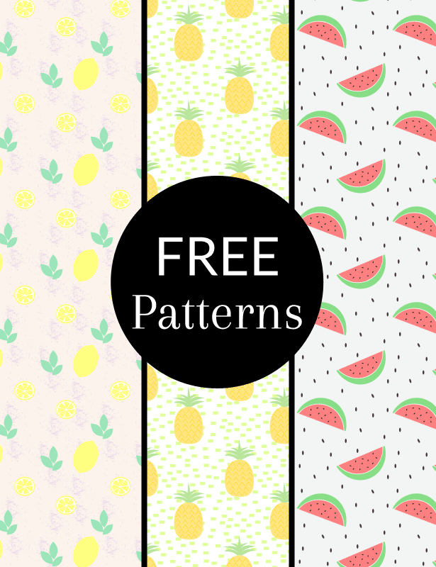 Fruit Patterns - yuniquelysweet.blogspot.com