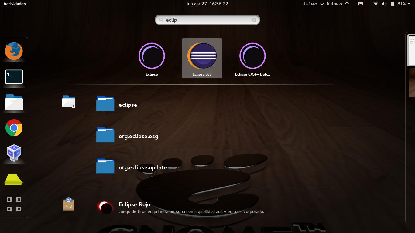 Instalar Eclipse JEE y mostrarlo en el cajón de aplicaciones