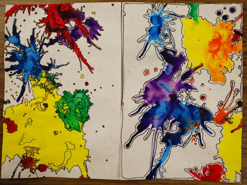 Adventures of an art teacher splashes of color my examples for Arts and crafts for middle school