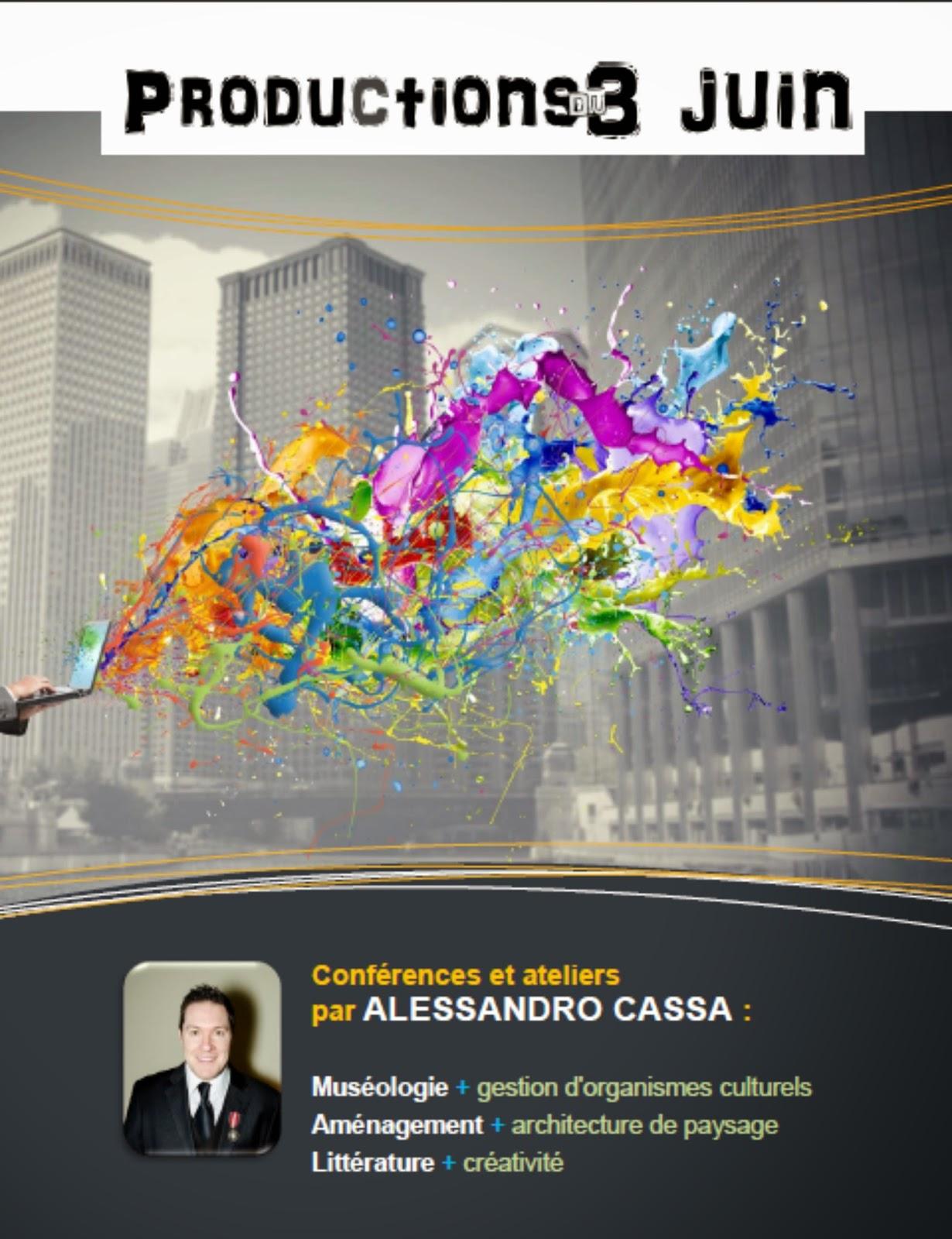 Productions du 3 juin (conférences Alessandro Cassa) page 1