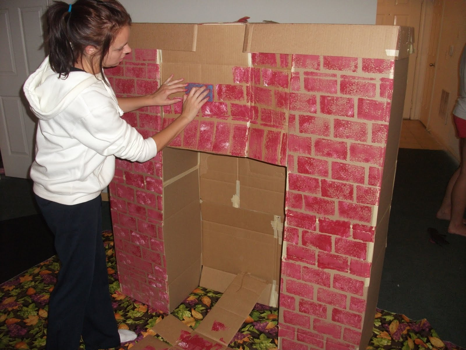 how to make faux fireplace out of cardboard fake fire