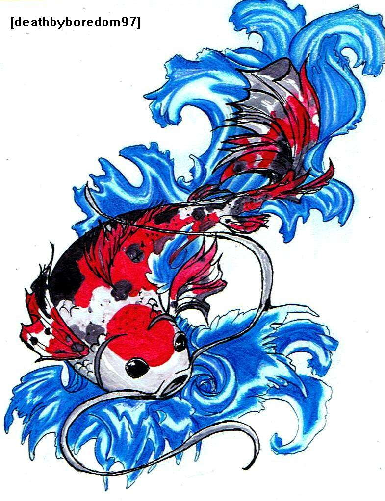 Koi Tattoo Pattern