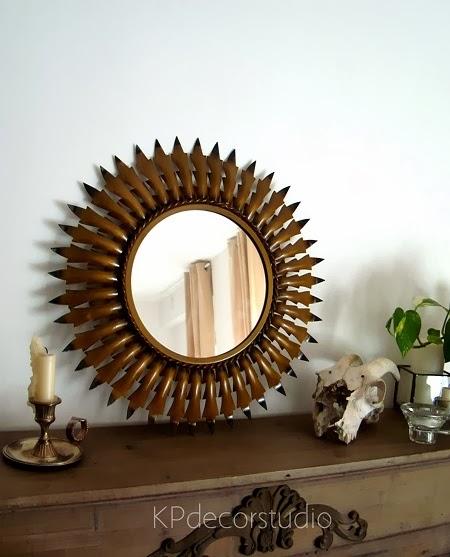 Kp tienda vintage online espejo vintage tipo sol for Donde venden espejos