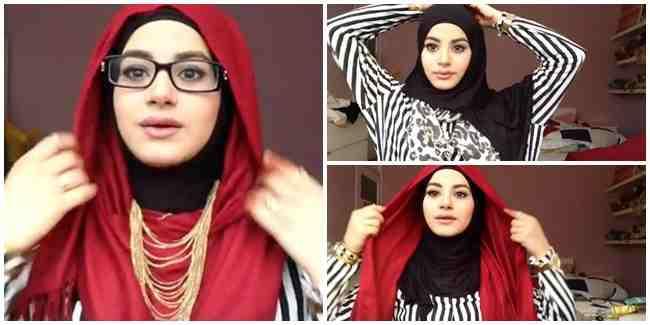 Tutorial Gaya Hijab Dengan Variasi Kalung dan Kacamata