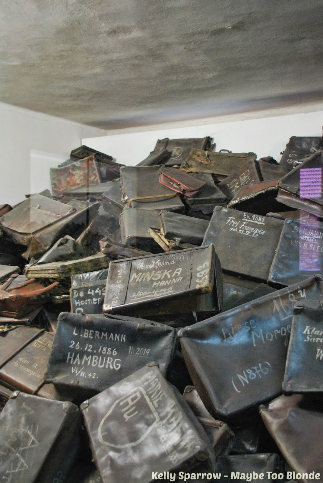 Auschwitz concentration camp suitcases