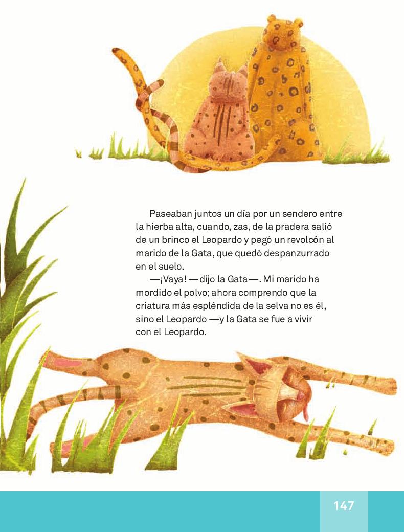 De cómo se instaló la gata dentro de la choza - Español Lecturas 3ro 2014-2015