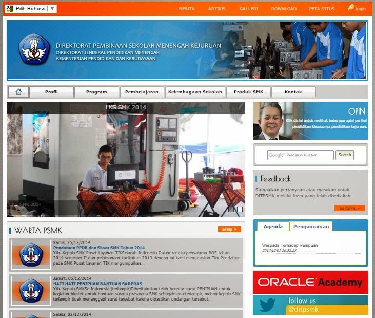 Tampilan Baru Website Ditpsmk