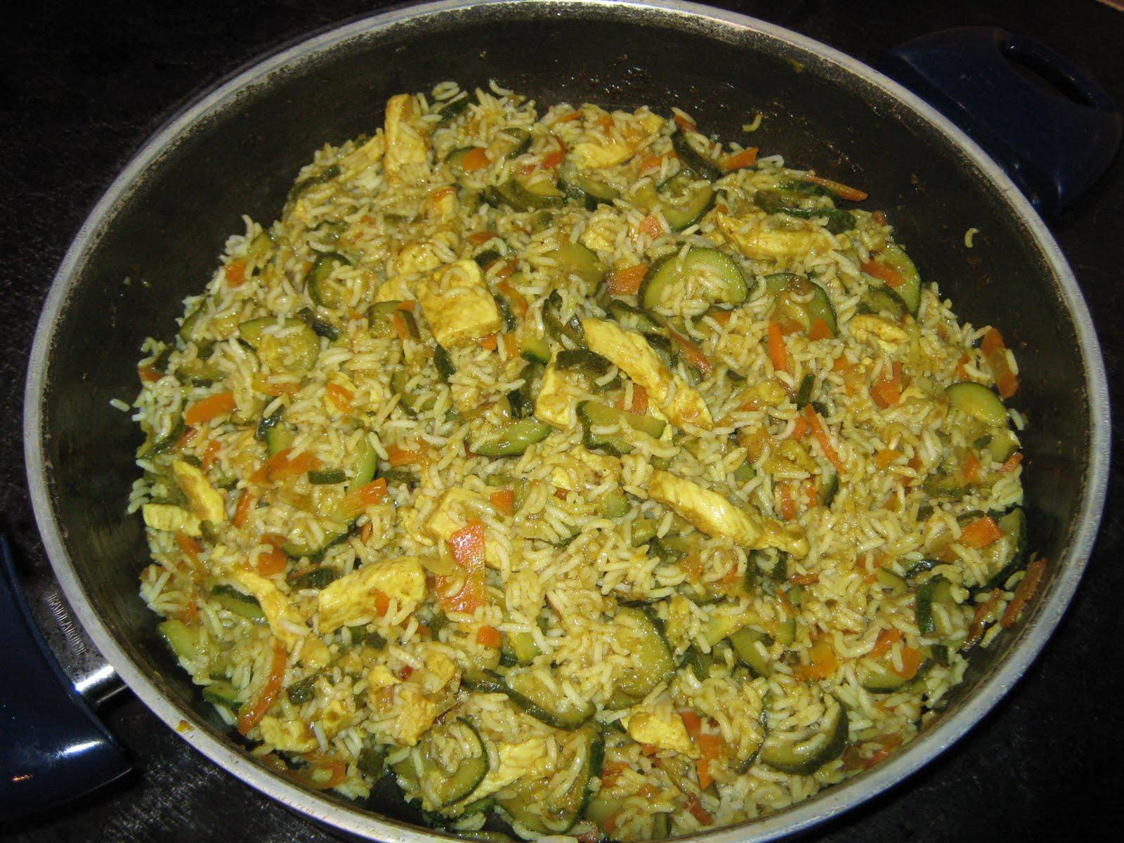 Ricette di claudio riso con pollo e verdure al curry for Ricette di riso