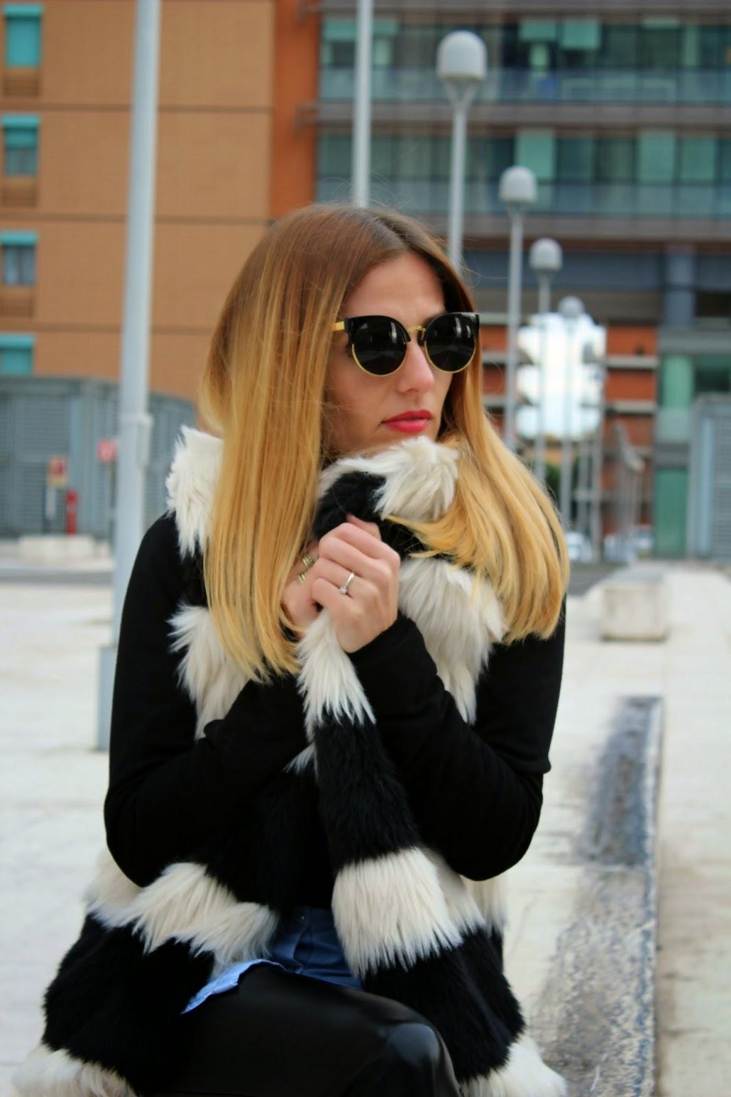 Eniwhere Fashion - Faccia da stile - faux fur - ecopelliccia