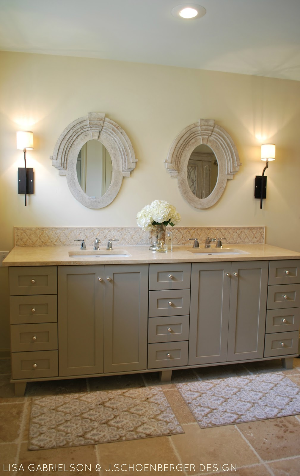 Elegant  knobs on vanity