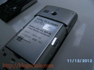 baterai sony ericsson Aspen