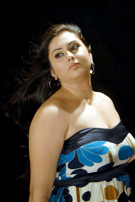 Namitha Hot Blue Skirt in Movie Love College