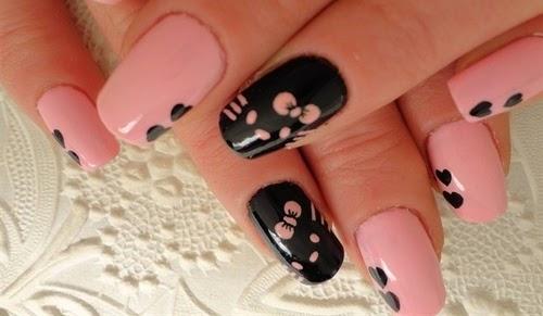 diseno de unas Hello Kitty