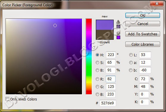 tutorial pilih warna photoshop