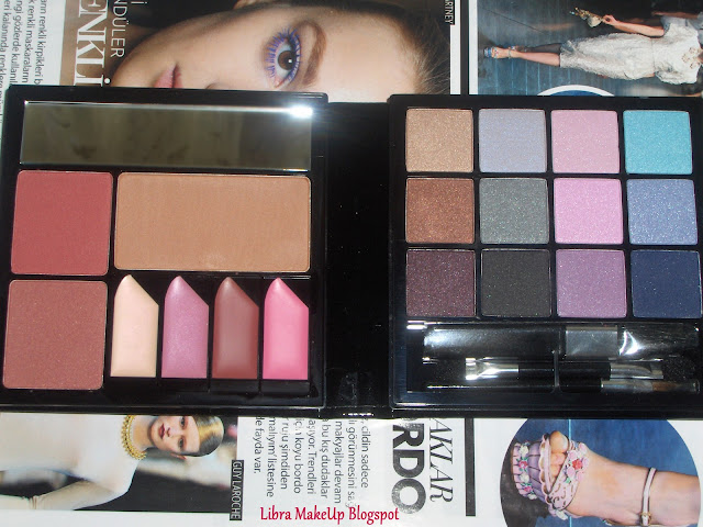 Claires make up set black makyaj seti