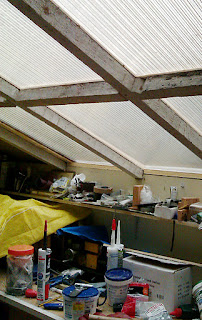 Shed roof with window