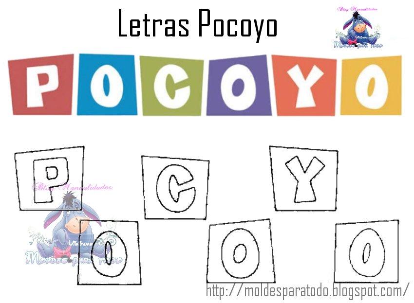 Moldes para Todo: - Letrero Pocoyo -