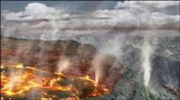San Diego erupción de volcán