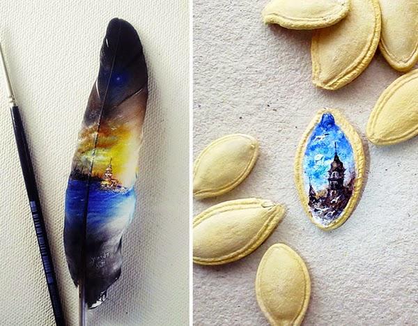 فنان تركي يرسم لوحات ميكروسكوبية مذهلة!