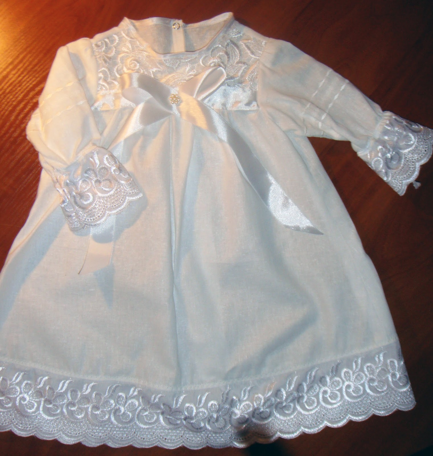 Как сшить крестильную рубашку для девочки своими руками