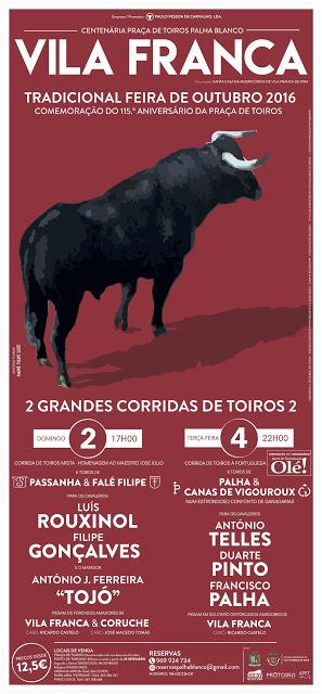 VILA FRANCA DE XIRA (PORTUGAL) DIAS 02 Y 04 DE OUTUBRO. FERIA TRADICIONAL DE OUTUBRO 2016.
