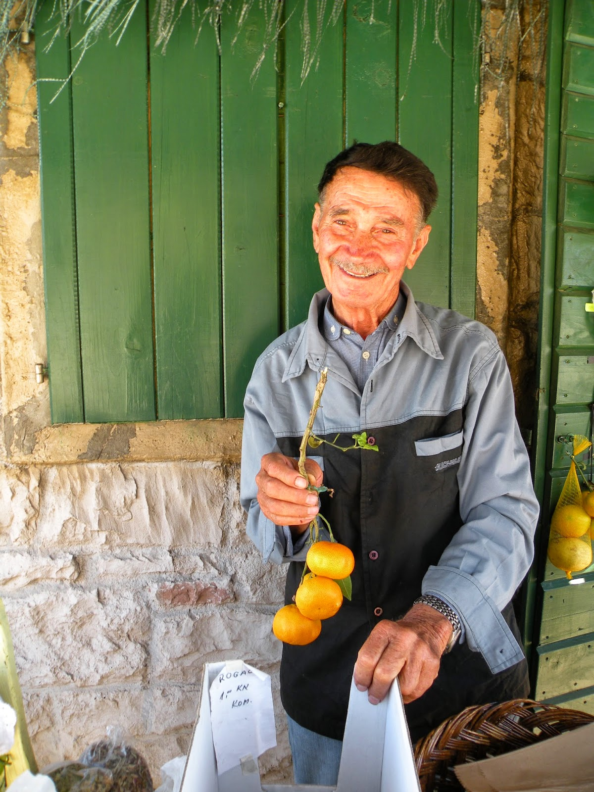 Meeting friendly farmers in Croatia. Photograph by Janie Robinson, Travel Writer