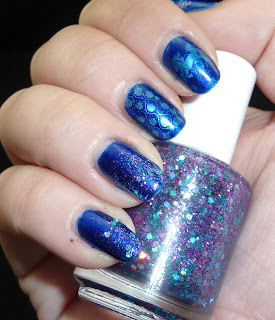 Lush Lacquer Hottie Tottie, Blue, Bundle Monster, Nail Stamping