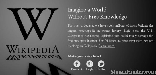 Google & Wikipedia Goes Dark Against SOPA