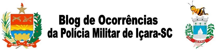 Ocorrências atendidas pela Polícia Militar em Içara-SC