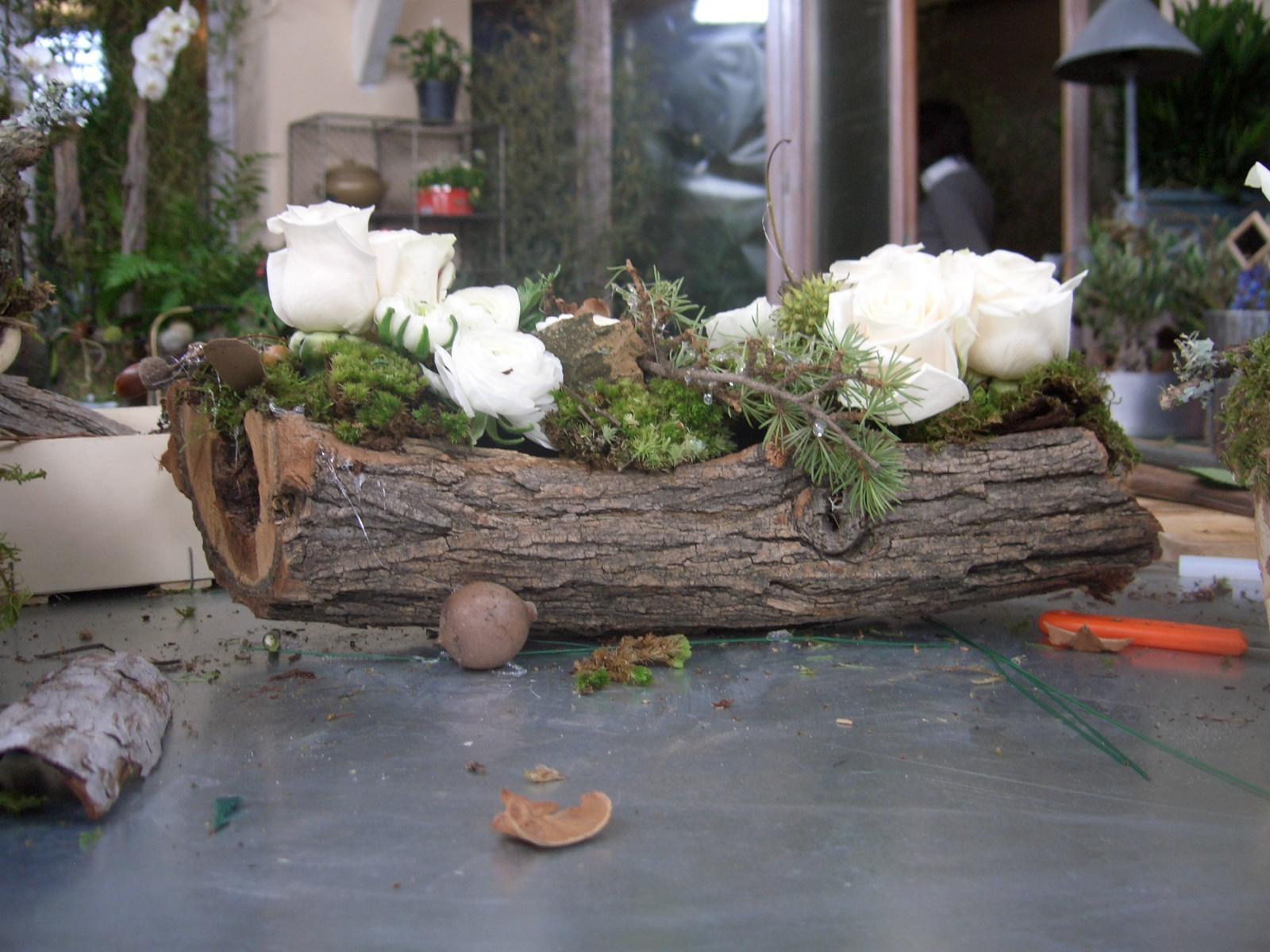 Les fees nature tournage c t maison france3 ambiance for Composition florale exterieur hiver