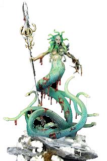 Bloodwrack Medusa painted minis