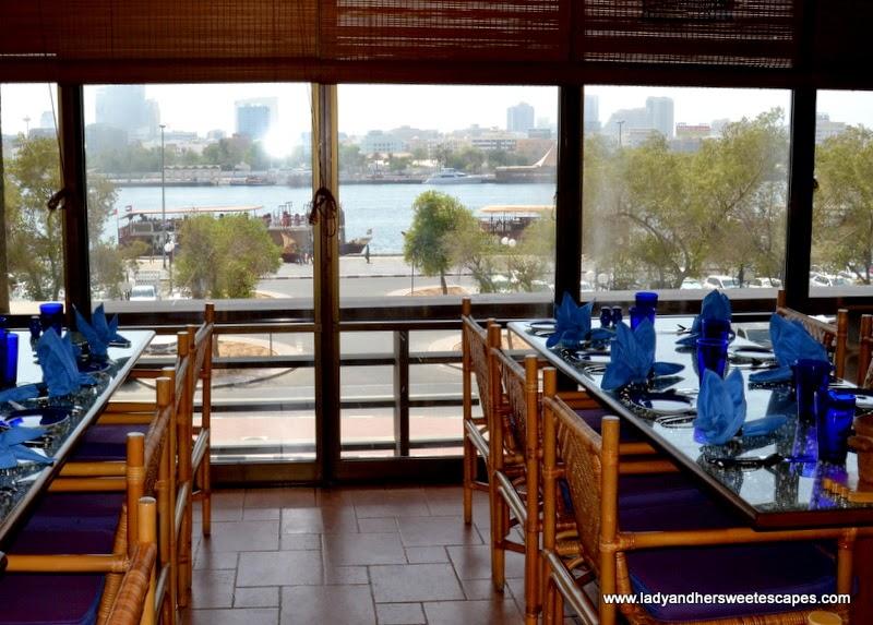 view of Dubai Creek from Fish Market Radisson Blu