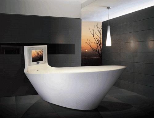 Vasche Da Bagno Moderne : Vasche da bagno di lusso: la vasca da bagno tv tub by saturn