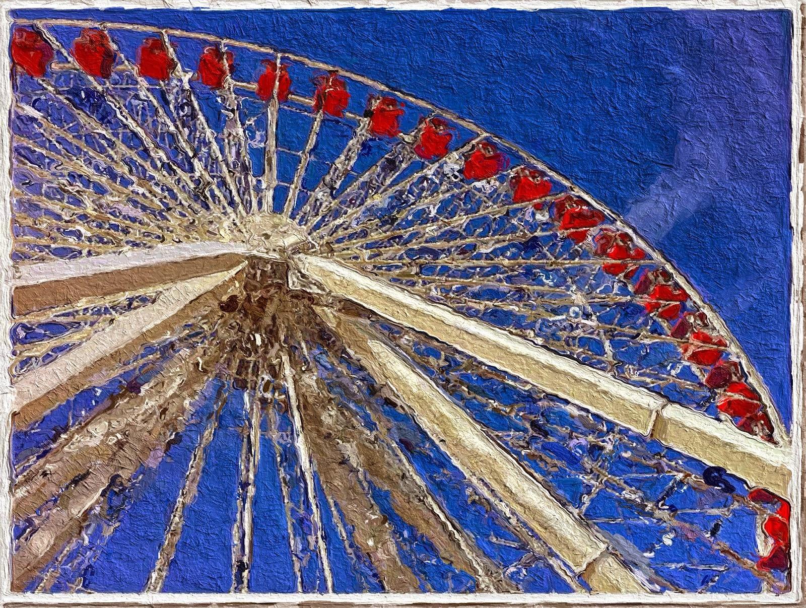 public domain paintings of a ferris wheel